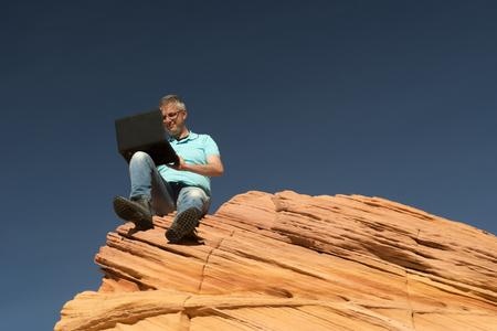 businness: Businessman, Paria Canyon, Vermilion Cliffs, Arizona