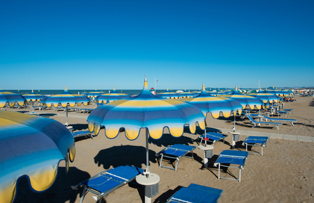 rimini: Rimini beach, Italy