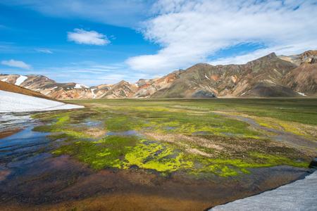 fumarole: Landmannalaugar , Iceland Stock Photo