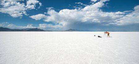 utah: Bonneville salt flats, Utah