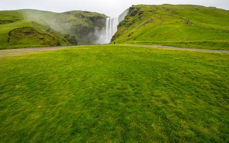 sud: Skogarfoss Waterfall, sud of Iceland Stock Photo