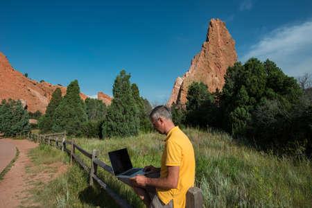 denver parks: Businessman at work
