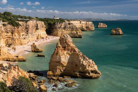 praia: Praia da Marinha, Algarve, Portugal Stock Photo