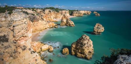 algarve: Praia da Marinha, Algarve, Portugal Stock Photo