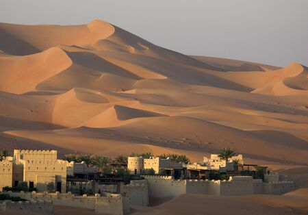 dune: Desert sand dune Stock Photo