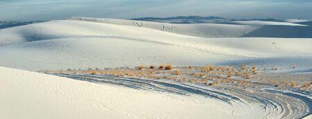 desert sand: White sand national monument, New Mexico Stock Photo