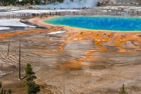 prismatic: Grand Prismatic Spring, Yellowstone National Park, Wyoming Stock Photo