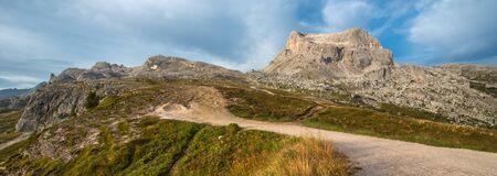 torri: Cinque Torri trekking, Dolomites Stock Photo