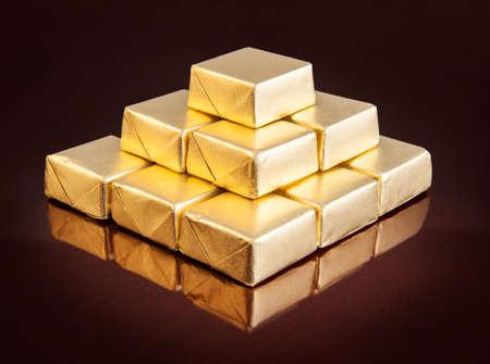 Golden chocolates Stok Fotoğraf