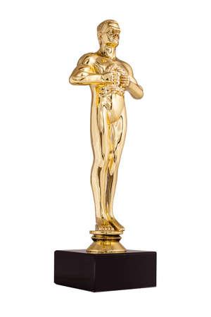 Oscar gouden trofee Stockfoto