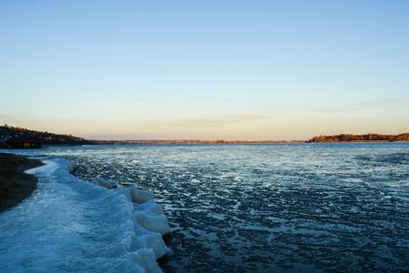 River Volga - Saratov Stock Photo