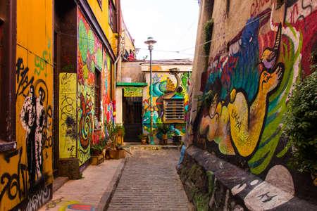 Street Arts - Graffiti in Valparaíso Chile 写真素材
