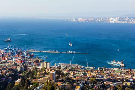 Panoramic view of Valparaíso - Chile