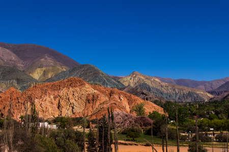 Cerro de los siete colores - Purmamarca in Jujuy Province - Argentina Banco de Imagens - 102225801
