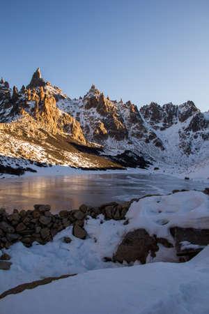 Frey Hike Mountain and frozen lake; Bariloche - Argentina