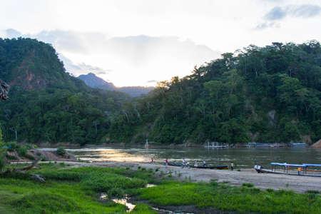 Jungle Community in Rurrenabaque - Amazon Rainforest in Bolivia Imagens