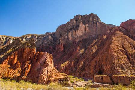 Red Mountains in Quebrada de las Se Imagens