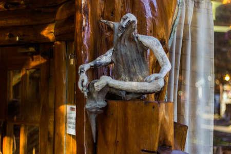 wood gnome doll in Colonia Suiza - Bariloche, Argentina Editorial