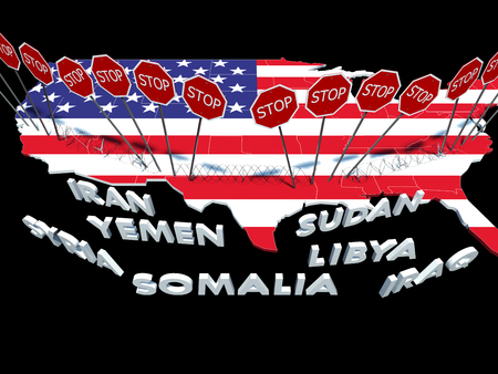 USA barred citizens of seven Muslim-majority countries from entering USA