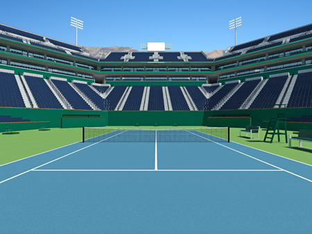 lookalike: 3D render of beutiful modern tennis masters lookalike stadium
