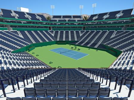 3D render of beutiful modern tennis masters lookalike stadium