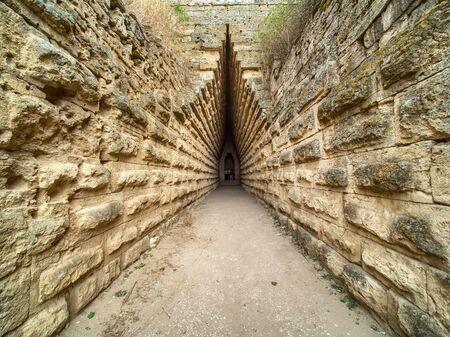 Inside royal kurgan in Kerch.