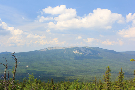 ural: Panoramic view of the mountains and cliffs, South Ural. Summer in the mountains.View from the mountains. The nature of the southern Urals. Travel in the mountains. Mountains.