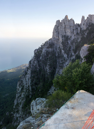 Stunning views of the Ai-Petri mountain peninsula Crimea. Mountain landscape.