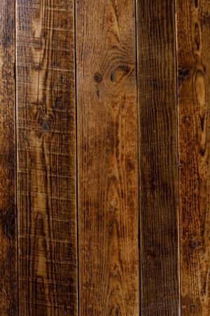 Oude houten achtergrond close-up. Textuur. Rustieke gebruikte armoedige tafeltextuur, vrije ruimte voor tekst of advertentie.