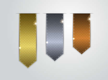 bronzed: Gold, silver, and bronze stickers Illustration