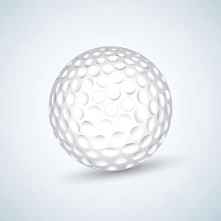 White Golf Ball. Realistic Vector Illustration. Isolated vector illustration.