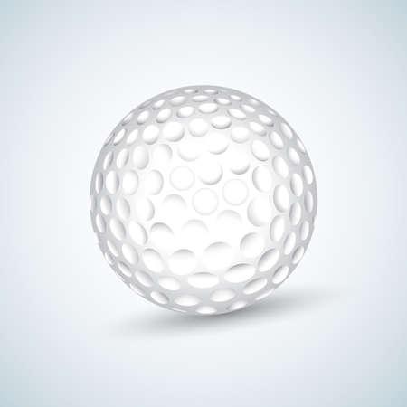 Weißer Golfball. Realistische Vektor-Illustration. Isolierte Vektor-Illustration.