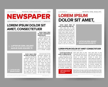 newspaper magazine pages, vector illustration