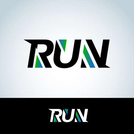 Run template. Sport template, sports, running and fitness vector design template Ilustrace