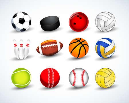 different sport balls vector illustration Ilustrace