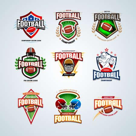 Football helmet, player illustrations.