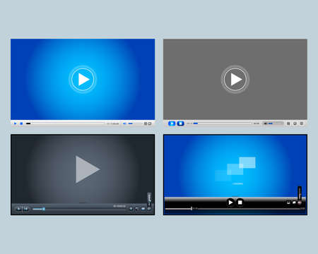 4 video players and mobile apps. Ilustrace