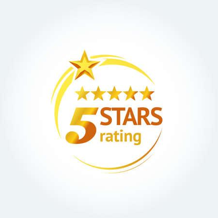Five Golden Stars template