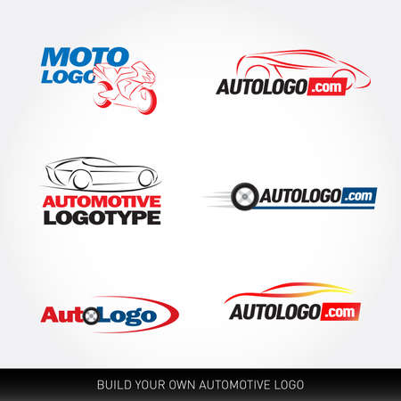 Car logotypes - car service and repair, vector set. Car logo. Reklamní fotografie - 127482440