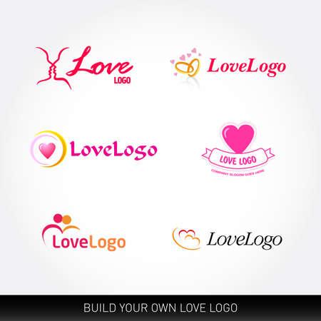 Love logo templates. Love logotypes concepts. Wedding logo templates. Ilustrace