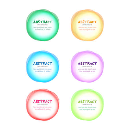 Set of round colorful vector rings. Abstract vector banners. Design elements. Ilustrace