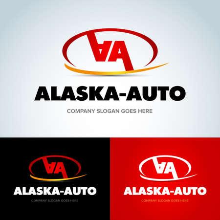 Auto Company Vector Design Concept. 2 double A letters template. Vector Illustration. Ilustrace