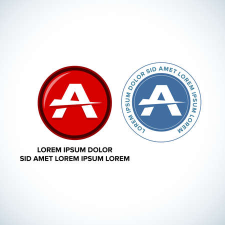 Abstract icon logo for letter A