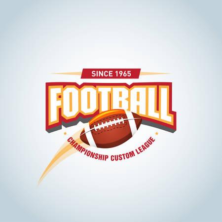 American football  template, badge, t-shirt, label, emblem. Vector illustration.