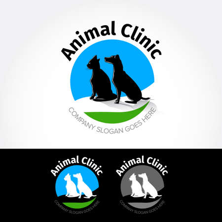 Animal clinic. design template for pet shops, animals, shelters, clinics and pet dogs shelters Reklamní fotografie - 127482448