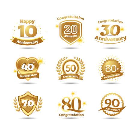 Golden Anniversary celebration emblems.
