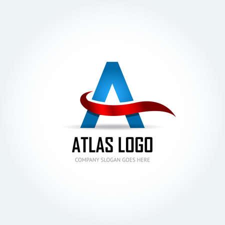 Blue Letter Logo Design Template Elements - Illustration. Letter A logo icon design - vector sign. Isolated vector illustration. Ilustrace