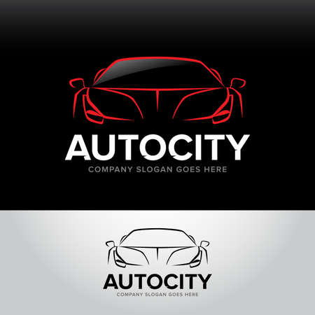 car service and repair, vector set. Car templates. Ilustrace
