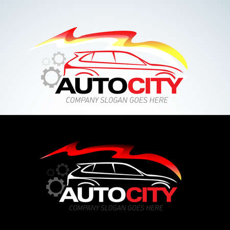 Auto city car  template, Auto cars, Isolated Vector Template.  イラスト・ベクター素材