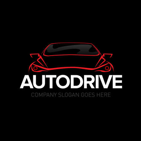 Autodrive car  - car service and repair, vector set. Isolated auto theme  .